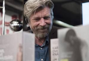 Karl Ove Knausgård falou sobre o novo livro em debate no Rio de Janeiro Foto: Leo Martins / Agência O Globo