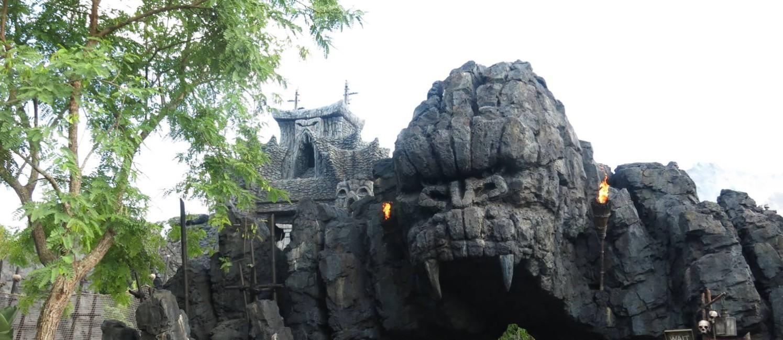 Entrada de Skull Island: Reign of Kong, nova atração do Universal Resort Orlando Foto: Eduardo Maia / O Globo