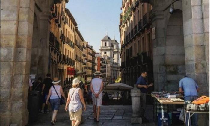 Plaza Mayor, em Madri Foto: @paula_lange_araujo / Instagram