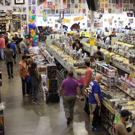 A lendária loja de discos Amoeba em Los Angeles (EUA) Foto: Arquivo