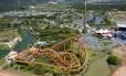 Vista aérea do Beto Carrero World, em Penha, Santa Catarina