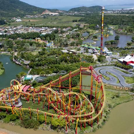 Vista aérea do Beto Carrero World, em Penha, Santa Catarina Foto: NILO BIAZZETTO NETO / Beto Carrero World / Divulgação