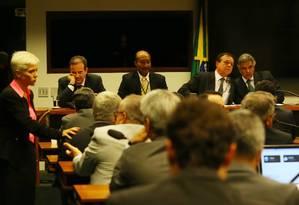 Terça-feira. Reunião do colégio de líderes que decidiu a data da eleição do presidente da Câmara, contrariando a determinação de Maranhão Foto: Ailton de Freitas / 7-7-2016