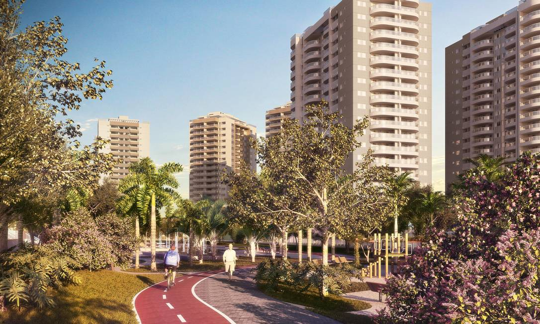 A ciclovia dos condomínios da Vila dos Atletas Foto: Divulgação