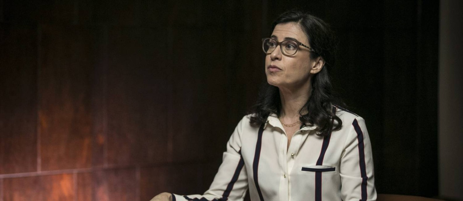 Fernada Torres durante a gravação de 'Minha estupidez', do canal GNT Foto: Alexandre Cassiano / Agência O Globo