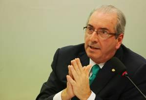 O deputado federal afastado Eduardo Cunha Foto: Michel Filho / Agência O Globo