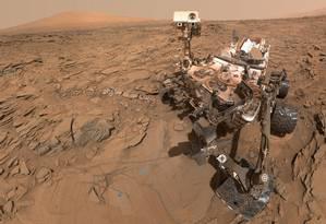O Curiosity pousou na superfície de Marte em agosto de 2012 Foto: NASA
