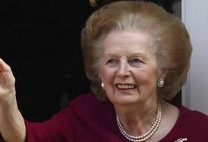 Premier britânica. Margaret Thatcher ficou 11 anos como primeira-ministra do Reino Unido, de 1979 a 1990 Foto: Reuters