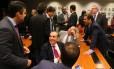 Reunião da bancada do PMDB na Câmara para escolher candidato do partido