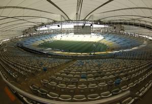 Estádio do Maracanã: palco da abertura e do encerramento dos Jogos Foto: Custódio Coimbra / Agência O Globo