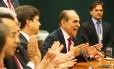 Bancada do PMDB na Câmara aplaude a decisão de lançar Marcelo Castro candidato à presidência da Casa