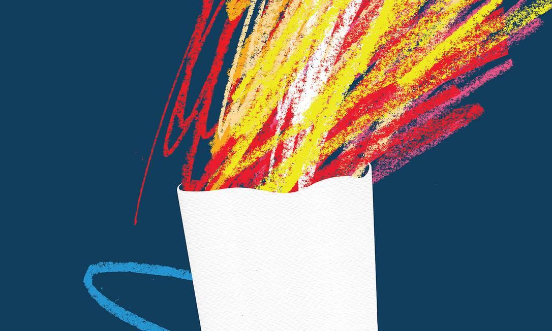 A tocha foi homenageada por Rico Lins com a 'Vibração Olímpica' Divulgação