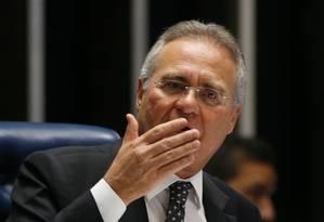 O presidente do Senado, Renan Calheiros (PMDB-AL) Foto: Ailton Freitas / Agência O Globo / 6-7-2016