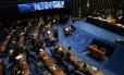 O plenário do Senado: parlamentares aprovam oito projetos de reajuste salarial