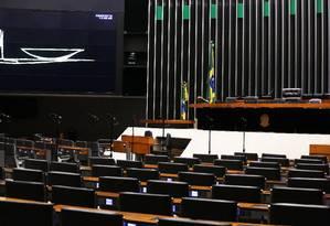 O plenário da Câmara dos Deputados Foto: Jorge William / Agência O Globo / 5-5-2016