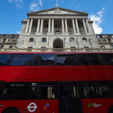 Banco da Inglaterra Foto: NIKLAS HALLE'N / AFP