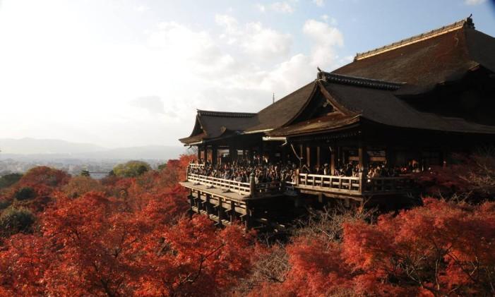 Templo Kiyomizu-dera, em Kioto, no Japão Foto: Y.Shimizu/JNTO / Divulgação
