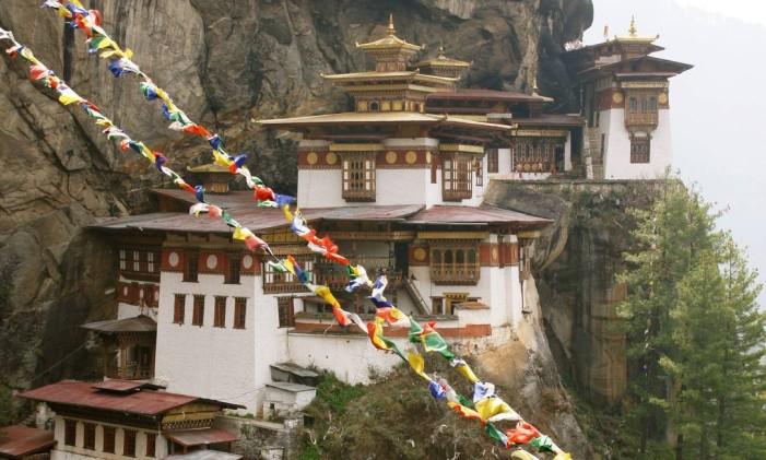 MonastérioTaktsang, no Butão Foto: Cláudia Sarmento / Arquivo