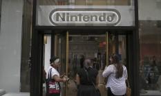 Loja da Nintendo no Rockefeller Center, em Nova York Foto: Victor J. Blue / Bloomberg