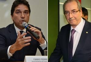 O ex-vice-presindete da Caixa Fábio Cleto e o deputado afastado Eduardo Cunha Foto: Montagem com fotos Arquivo O Globo
