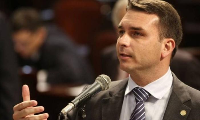 O deputado estadual Flávio Bolsonaro (PSC) Foto: Divulgação/ Alerj
