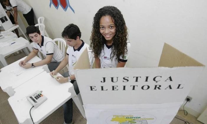 Projeto Eleitor do Futuro Foto: Felipe Hanower / Agência O Globo