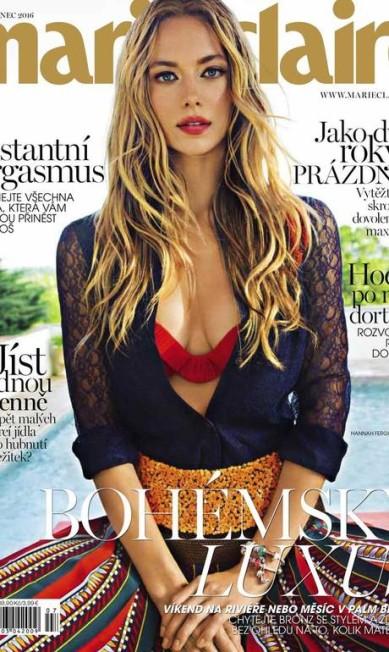 """Hannah na capa da """"Marie Claire"""" tcheca de julho Divulgação"""