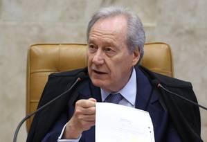 O presidente do Supremo Tribunal Federal, Ricardo Lewandowski Foto: Jorge William / Agência O Globo / 8-6-2016