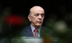O ministro das Relações Exteriores, José Serra Foto: Edilson Dantas / Edilson Dantas