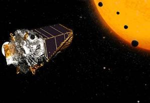 Kepler identifica sistema planetário com quatro planetas rochosos, como a Terra Foto: NASA