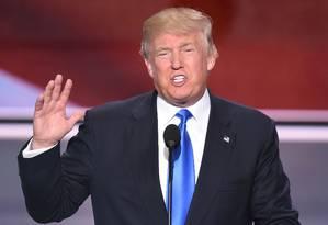 Donald Trump fala na Convenção Nacional Republicana Foto: ROBYN BECK / AFP