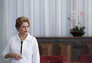 A presidente afastada Dilma Rousseff Foto: Eraldo Peres / AP 13/05/2016