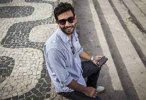 Gabriel Medeiros é um dos criadores do aplicativo Foto: Agência O Globo / Hermes de Paula