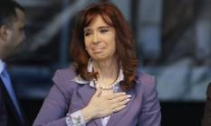 Cristina Kirchner em 2015. Juiz Claudio Bonadio paralisou conta da ex-presidente deixando-a sem pensão mensal de mais de US$ 200 mil Foto: Ricardo Mazalan / AP