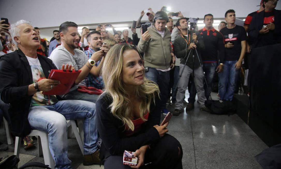 Apresentação de Diego causou alvoroço na sala de imprensa da Gávea Rafael Moraes