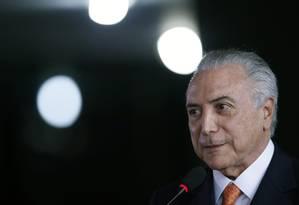 O presidente interino, Michel Temer Foto: Jorge William / Agência O Globo / 20-7-2016