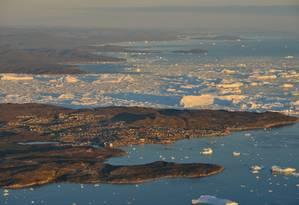 Entre 2011 e 2014, a Groenlândia perdeu em média 269 bilhões de toneladas de gelo por ano Foto: Divulgação/ Greenland Travel