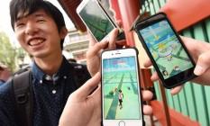 'Pokémon Go' foi lançado no Japão nesta sexta Foto: TORU YAMANAKA / AFP