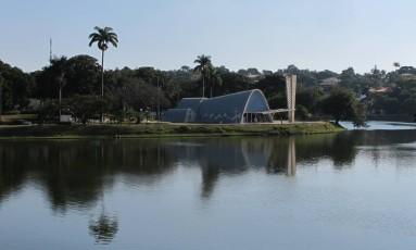 Igreja de São Francisco de Assis, na Lagoa da Pampulha, Belo Horizonte Foto: Eduardo Maia / O Globo