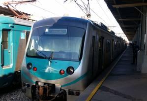 O trem da Supervia no Rio de Janeiro Foto: Agência O Globo