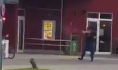O atirador de Munique em ação Foto: Reprodução de vídeo