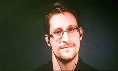 Snowden participou da Comic-Con por videoconferência Foto: Reprodução