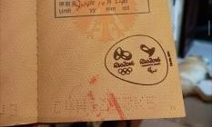 Carimbo Olímpico em passaporte Foto: Foto de leitor