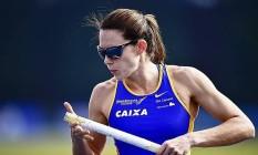 Fabiana Murer desistiu de saltar na etapa de Londres da Liga Diamante Foto: Divulgação