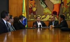Reunião com o presidente da Câmara dos Deputados Rodrigo Maia (DEM-RJ) Foto: Ailton de Freitas / Agência O Globo