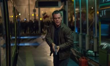Matt Damon em cena como Jason Bourne no mais recente filme da franquia Foto: Jasin Boland / Divulgação