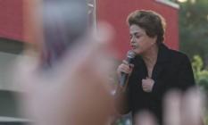 A presidente afastada Dilma Rousseff em ato em São Paulo Foto: Marcos Alves/Agência O Globo (08/07/2016)