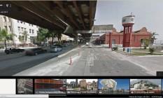 Mundo virtual. A Perimetral ainda de pé no Street View Foto: reprodução do google