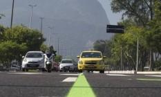 Exclusiva. Faixa na Barra só para veículos credenciados Foto: Agênica O Globo / Márcia Foletto