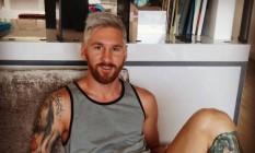 Messi: novo look revelado no Instagram Foto: Reprodução/Instagram